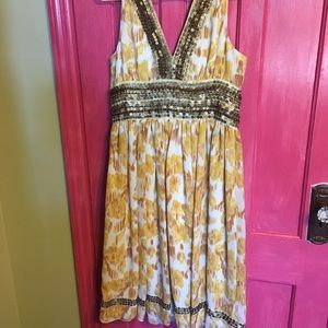 Yellow and sequin sun dress